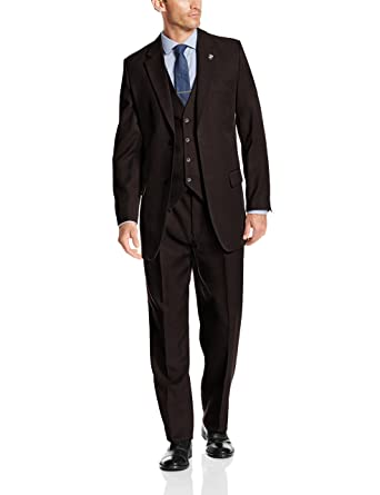 90bb3a68a08c STACY ADAMS Men's Suny Vested 3 Piece Suit at Amazon Men's Clothing ...