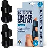 Dr. Frederick's Original Trigger Finger Splint - 2 Pieces - Doctor-Developed Design Fits Index Finger - Middle Finger…