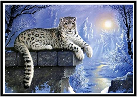DIY Diamond Inlay Painting Girl Tiger Swan Cross Stitch Kit Room Decoration