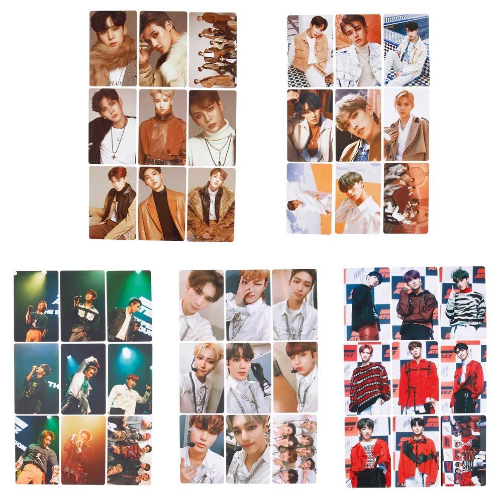 H01 Fat Bear 9pcs Set KPOP ATEEZ Mini Album Photocard Tarjeta fotogr/áfica