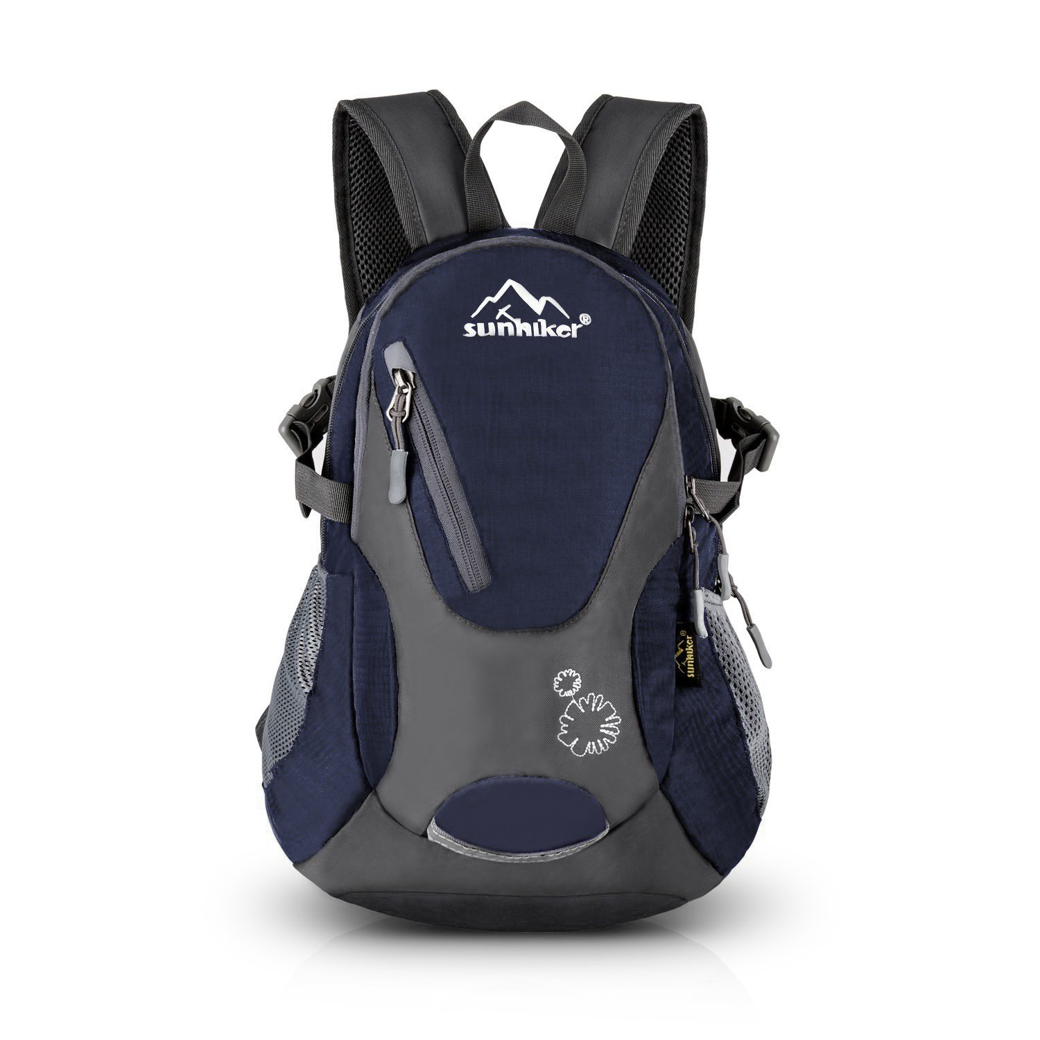 Sunhiker Cycling Hiking Backpack Water Resistant Travel Backpack Lightweight Small Daypack M0714 (Dark Blue) by Sunhiker