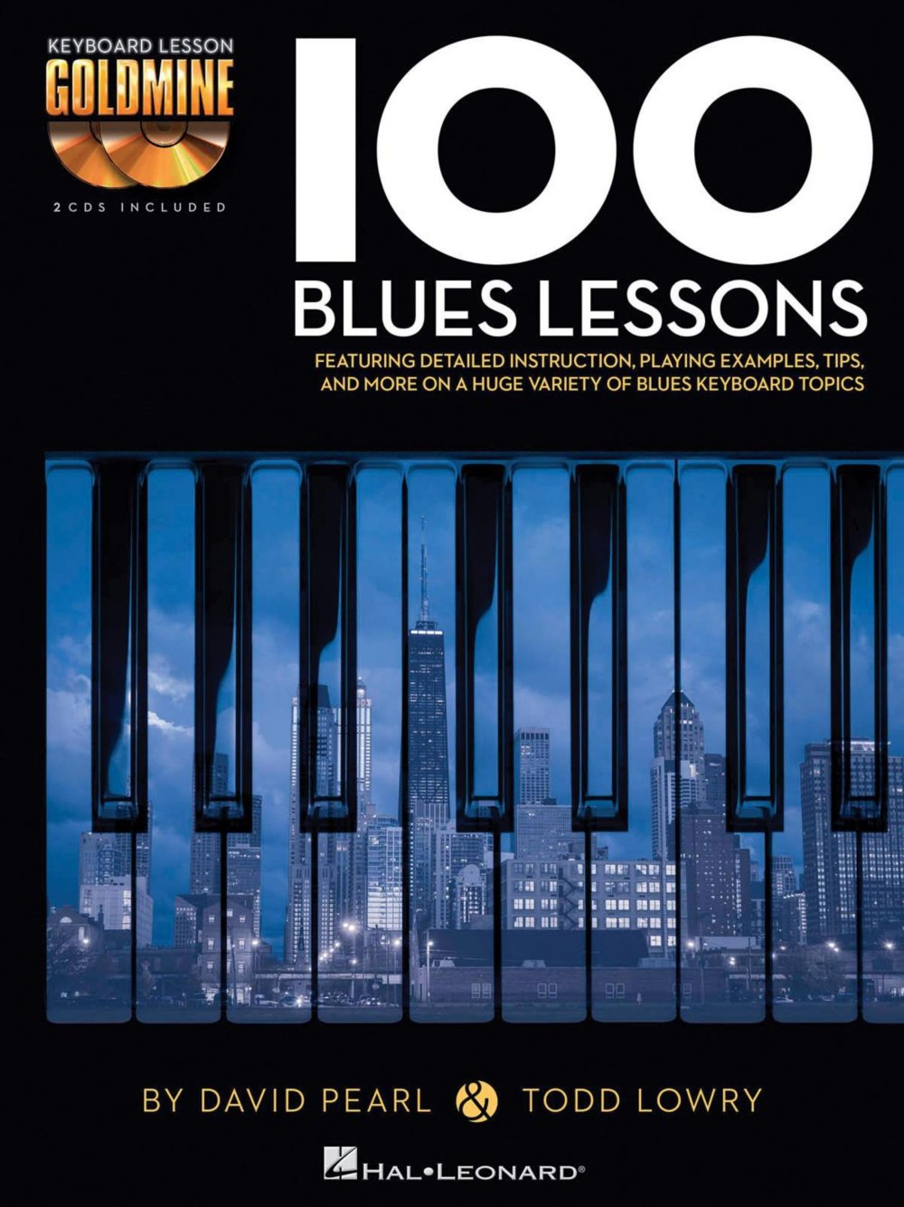 Hal Leonard 100 Blues Lessons - Keyboard Lesson Goldmine Series Series  Book/2-CD Pack: 0884088949365: Amazon.com: Books