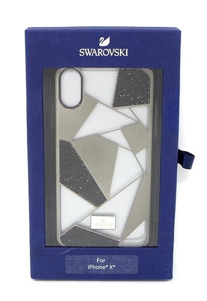 2b84b82f644d05 Swarovski Heroism Case with Bumper for Apple iPhone X Black Gold Clear  16071VRP