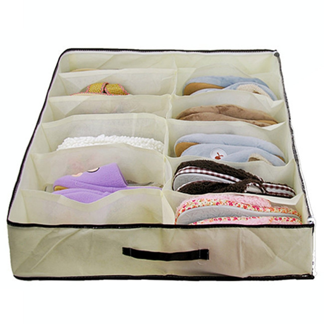 THEE Shoe Organizers Storage Drawers 12 Grids