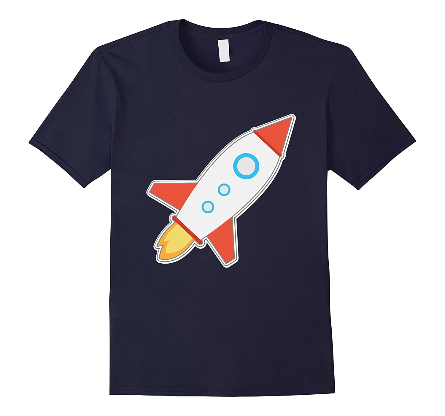 Space Ship T-Shirt Rocket Astronaut Stars Sun Moon Earth Tee-ANZ