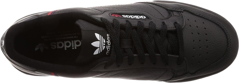 adidas Continental 80, Derbys Homme Multicolore Black Cblack Scarle Conavy