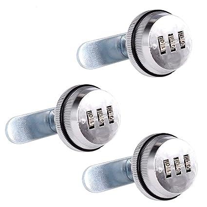 SPOTACT combinacion Cam Lock cerraduras de seguridad Cromo brillante generador cerradura codificada para caja de aleacion