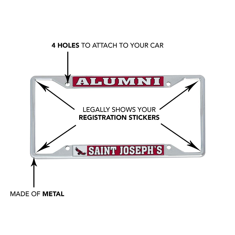 Alumni Desert Cactus Saint Josephs University SJU Hawks NCAA Metal License Plate Frame for Front Back of Car Officially Licensed