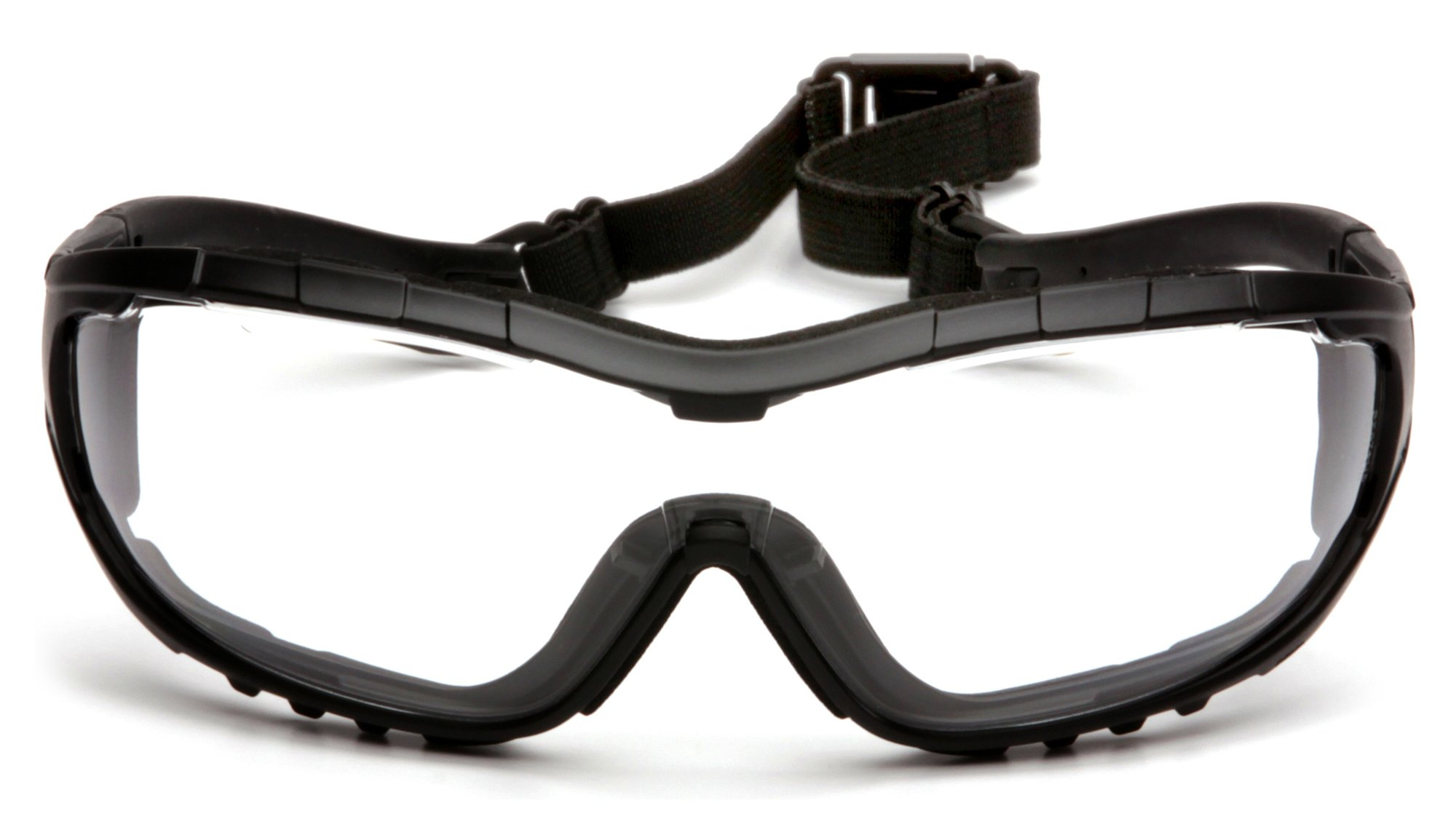 Pyramex V3G Safety Goggles, Black Strap/Temples/Clear H2X Ultra Lens by Pyramex Safety (Image #2)