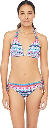 La Blanca Women's Triangle Halter Bra Bikini Swimsuit Top