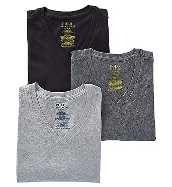 6f5ed1b6585 Polo Ralph Lauren Slim Fit Cotton T-Shirt 3-Pack at Amazon Men s ...