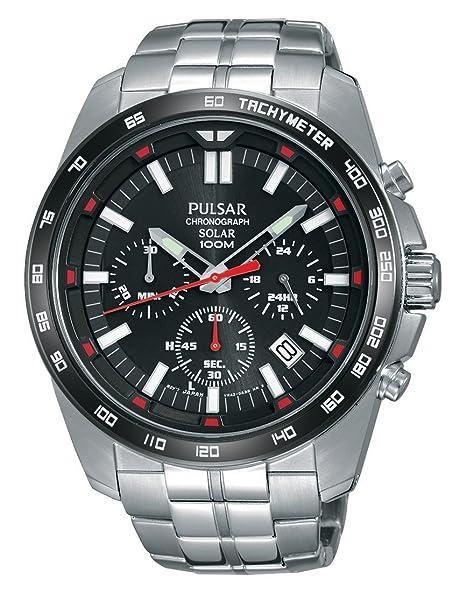 Pulsar Reloj Unisex de Analogico con Correa en Chapado en Acero Inoxidable PZ5005X1: Amazon.es: Relojes