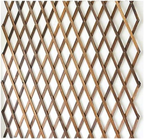 YOGANHJAT Celosia Madera Extensible Enrejado Jardín Madera Natural Enrejado Extensible de bambú Independiente de Madera Decoración de balcón Marrone,150 * 52cm/59 * 20.4in: Amazon.es: Hogar