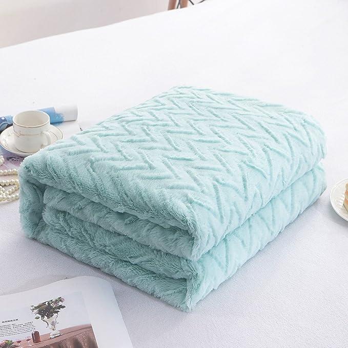 Amazon.com: liferevo manta de piel sintética manta de lujo ...