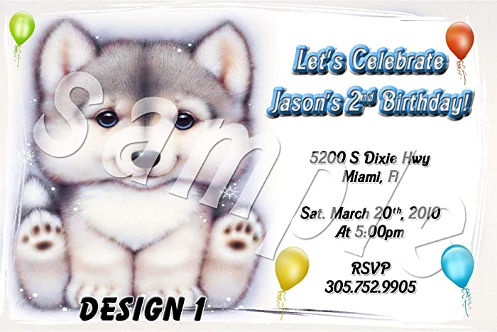 Amazon Wolf Cub Personalized Birthday Invitations More Designs