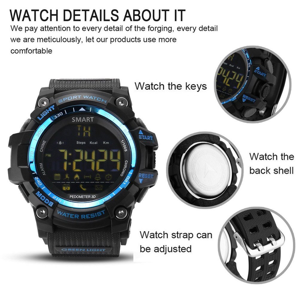 Amazon.com: LU2000 Waterproof Smart Watch Bluetooth Take Photo Steps Calorie Count APP Message Notification Sport Watch Stopwatch Smart Wristband for ...