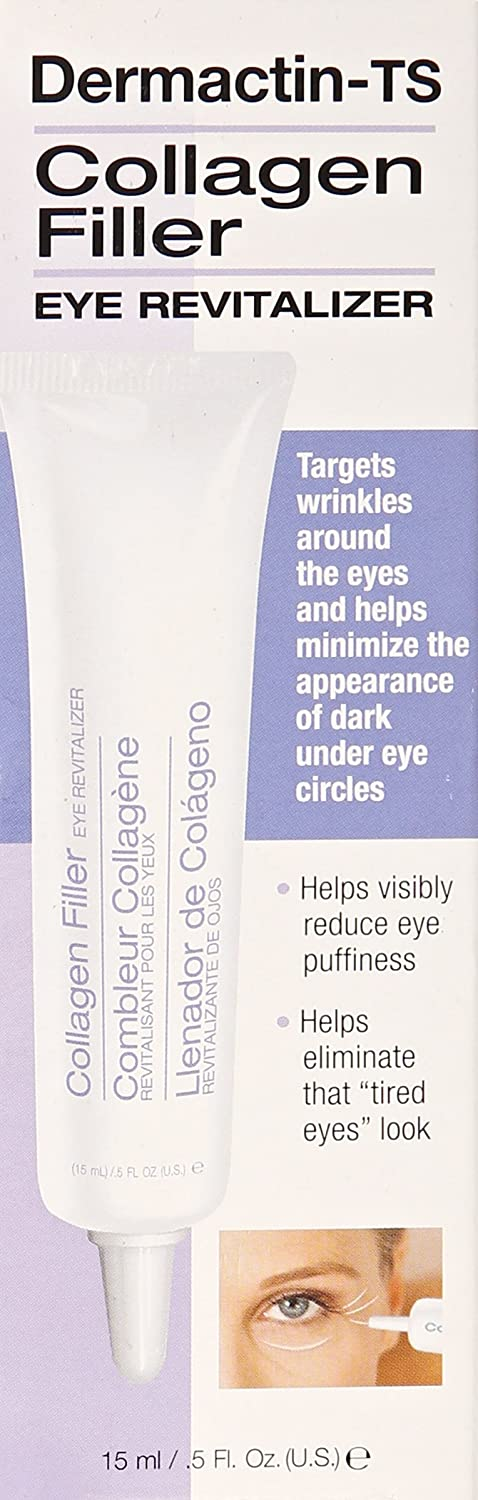 Demactin-TS Intensive Skin Care - Collagen Filler Eye Revive .5 oz. Lierac Homme Eye Contour, Fatigue Smoothing Gel, 0.55 Oz (Pack of 2)