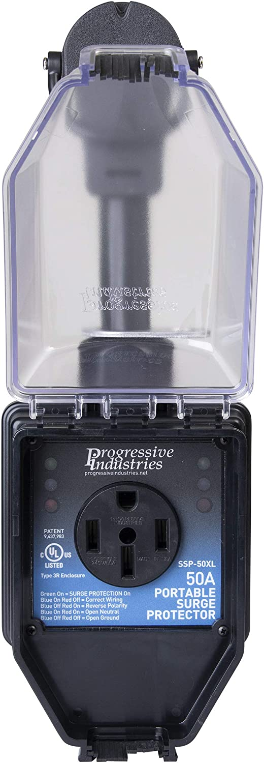 Progressive Industries Ssp 50xl Surge Protector With Cover 50 Amp