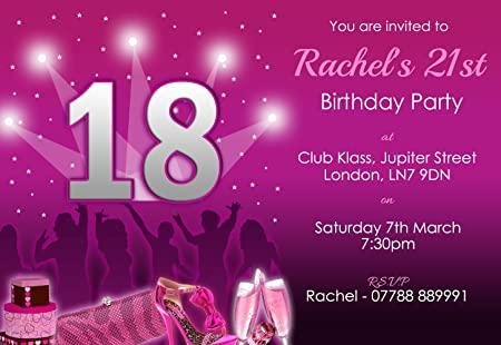 18th Birthday Party Invites Night Out Girls