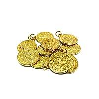 GTBITALY 60.048.20 10 medaglie di san benedetto dorate oro con anello 2 cm