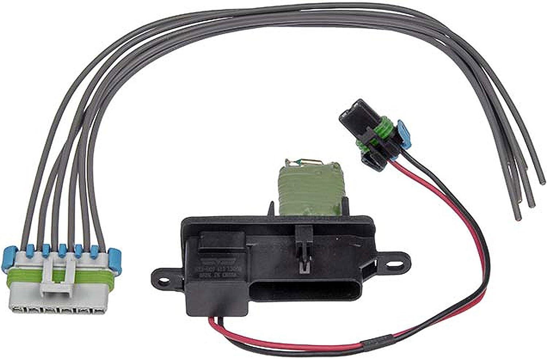 Amazon.com: APDTY 084518 Blower Motor Resistor Fan Speed Control w/Wire  Wiring Harness Kit (Replaces 15-81796, 15-80560, 89018770): AutomotiveAmazon.com