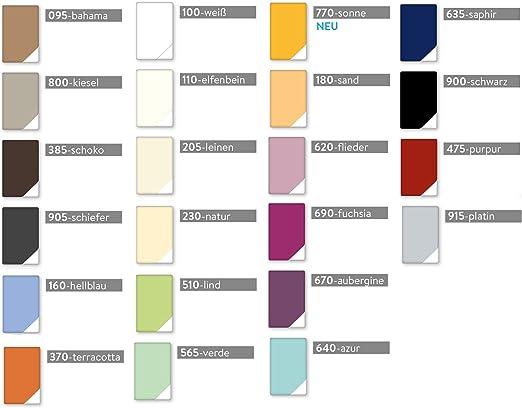 elfenbein 110 Estella Zwirn Jersey Spannbetttuch Spannbettlaken 6900 Farbe