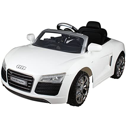 Amazoncom Costzon White Audi Kids V Electric Ride On Car With - Audi electric toy car