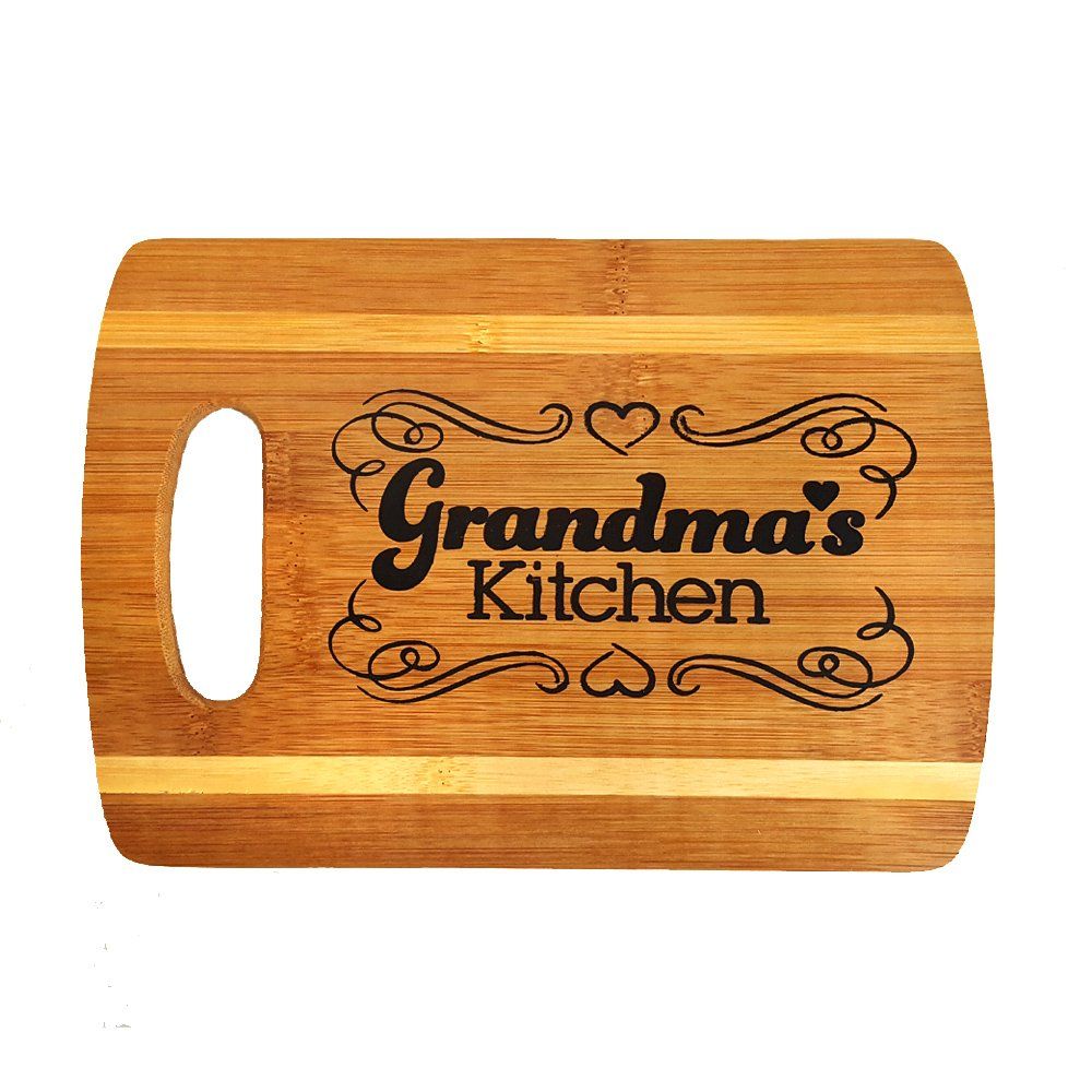 Zoombie Cutting Board for Grandma - Home Decor, Home Accents, Grandparent's Day Gift (Grandma Cutting Board)