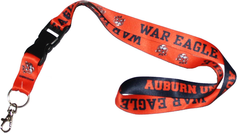 Wincraft Snack Schale Ncaa Auburn Universität Tiger War Eagle Lanyard Schlüsselanhänger 2 5 Cm Breit 50 8 Cm Lang Sport Freizeit
