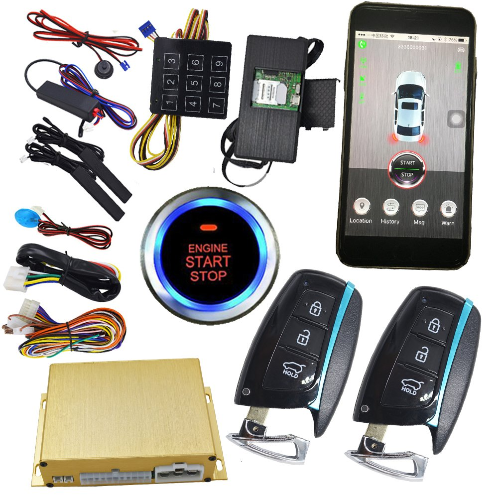 GPS Realtime Online Tracking System With Keyless Entry Ignition Start Stop Button