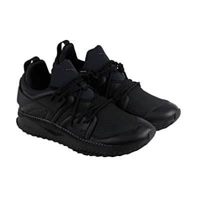 d4cb653acd16 Puma Tsugi Blaze Meta Mens Black Suede Leather Lace Up Sneakers Shoes 9