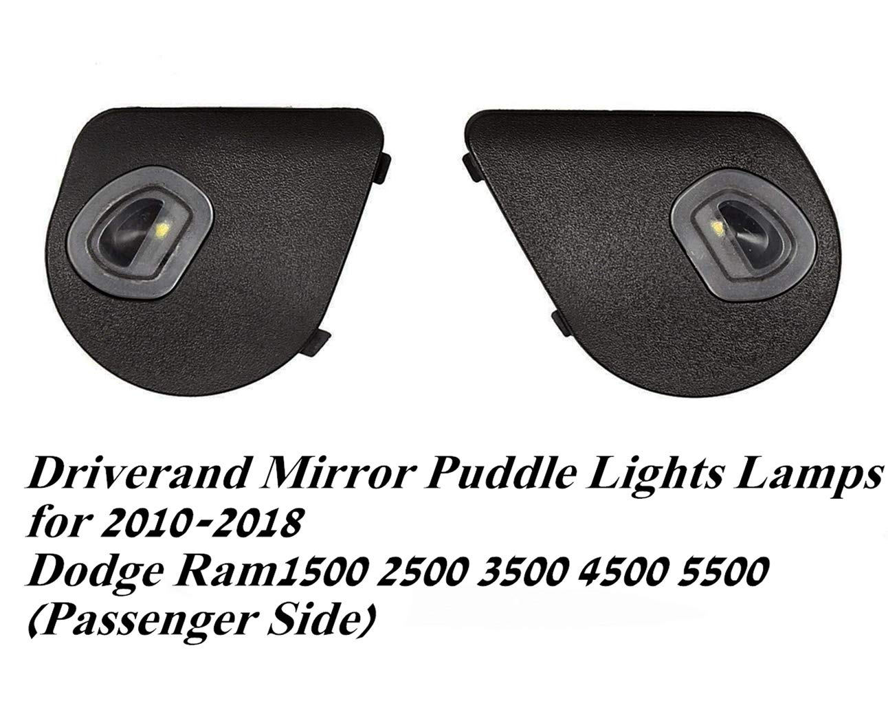 AUFER Driverand Mirror Puddle Lights Lamps for 2010-2018 Dodge Ram1500 2500 3500 4500 5500 (Passenger Side)