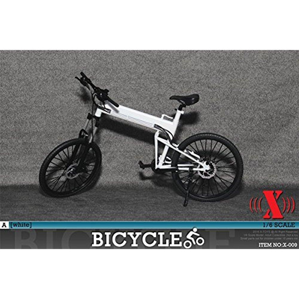 1 / 6スケールno。x-009モデル折りたたみ自転車バイクホワイト   B076VS5YKR