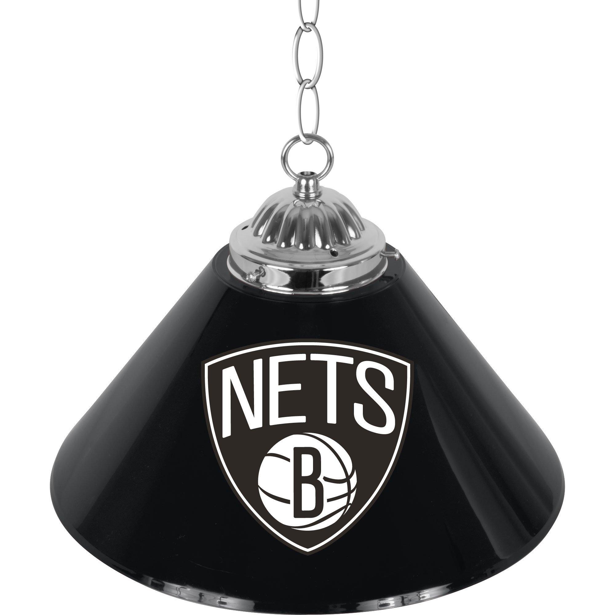 NBA Brooklyn Nets Single Shade Gameroom Lamp, 14'' by Trademark Gameroom