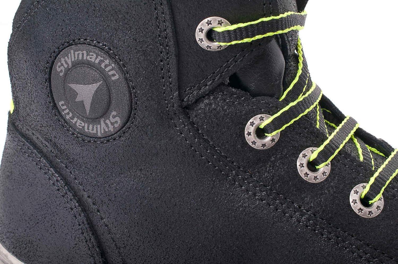 STYL Martin Frecce Scarpe Stivaletto Sneaker Seattle Evo Nero Taglia 43