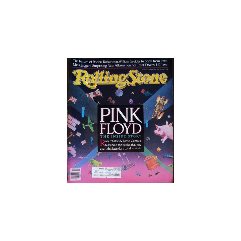 Rolling Stone Magazine Nov. 19, 1987 Issue 513 Pink Floyd Cover