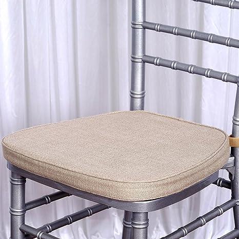 Amazon.com: balsacircle Natural Burlap Chiavari silla cojín ...