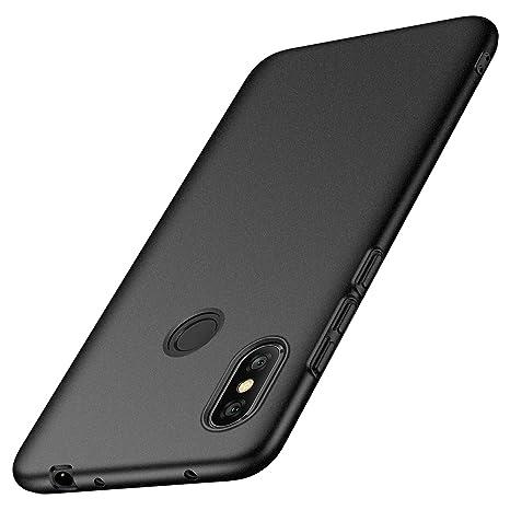 anccer Funda Xiaomi Redmi Note 6 Pro [Serie Colorida] [Ultra-Delgado] [Ligera] Anti-rasguños Estuche para Redmi Note 6 Pro (Grava Negro)