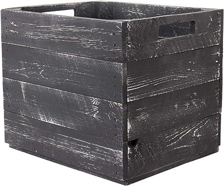 Vinterior - 2 Cajas de Madera Gris para estantes Kallax 33 x 38 x ...