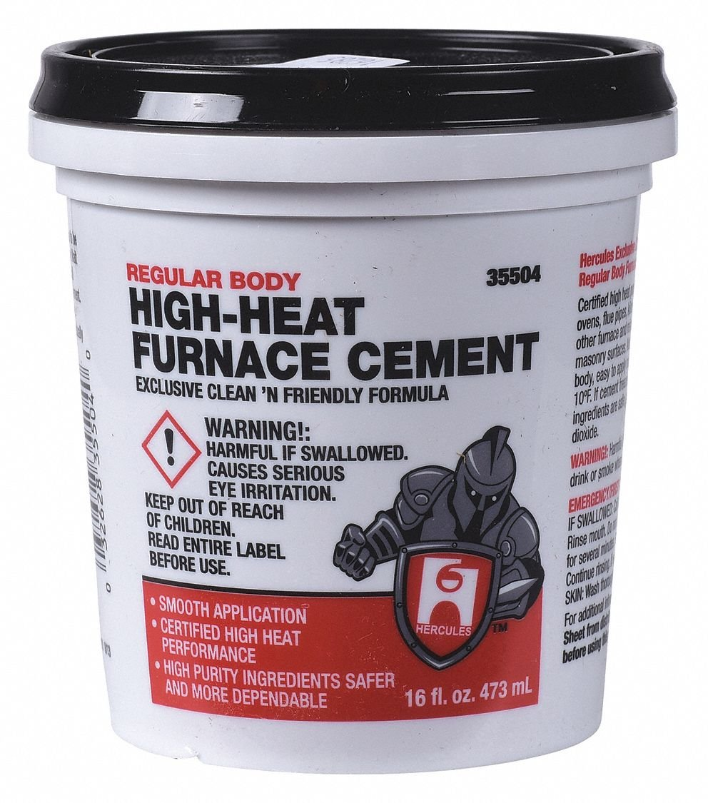 Furnace Cement High Temperature 1 Pt Household Furnace