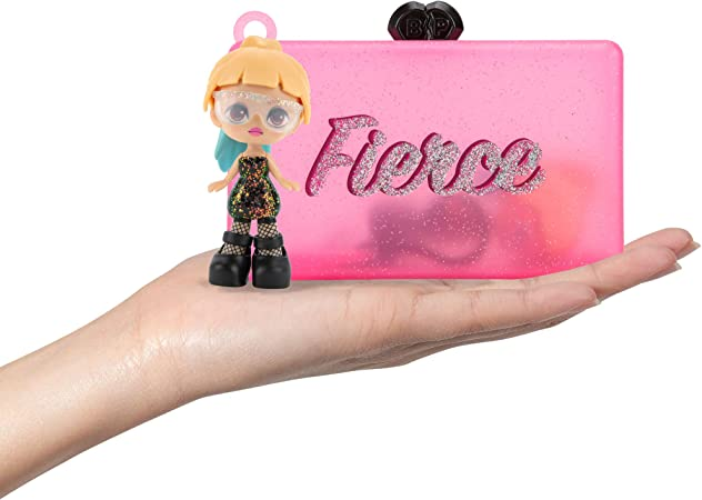 """Blackpink Sophisticated Superstars Clutch, Featuring 3"""" Lisa, Jisoo, Rosé, or Jennie K-pop Mystery Figures, Interchangeable Accessories, Collectible Keychain and Charm, 1 Clutch Chosen at Random"""