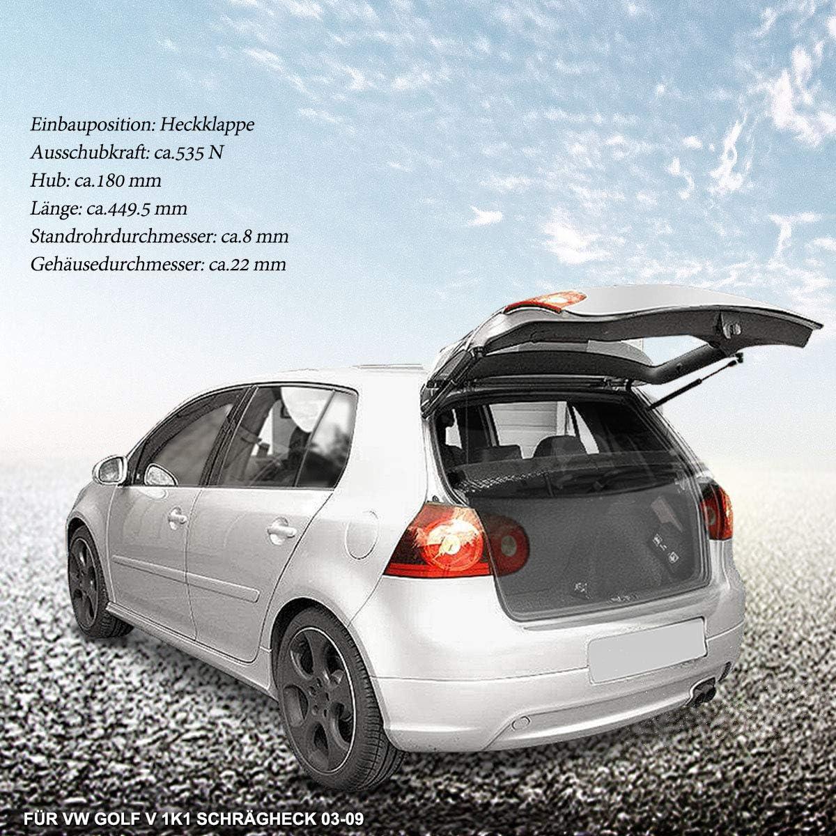 1k6827550f 2x Gasfeder Gasdämpfer Heckklappe Kofferraum Für Golf V 1k1 2003 2009 Schrägheck Nur Für 4 5 Türer Auto