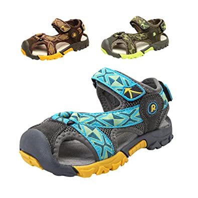 Gloria JR Sommer Athletic Strap Geschlossen-Toe Sandale Für Kleinkind Little Kid Big Kid (EU 34 (UK 1 Little Kid=21.7cm), Khaki)