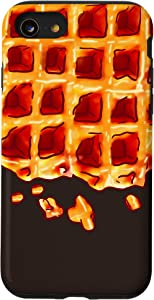 iPhone SE (2020) / 7 / 8 Belgian Waffle Syrup Breakfast Food Snack Waffle Lover Gift Case