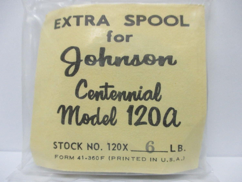 ジョンソンSpinning Reelパーツ – 120 x - 6 Centenial 120 A – スプールW / 6lbライン   B01MG7QL6I