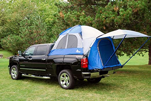 SportZ Truck Tent With Rainfly Taped in Blue/Grey
