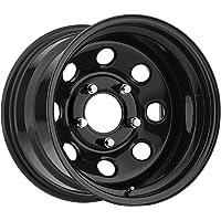 Trailmaster TM9-5865 TM9 Steel Wheel; Size 15X8 ;Bolt Pattern: 5x4.5 ;Back Space 3.75 in.; Finish Gloss Black;