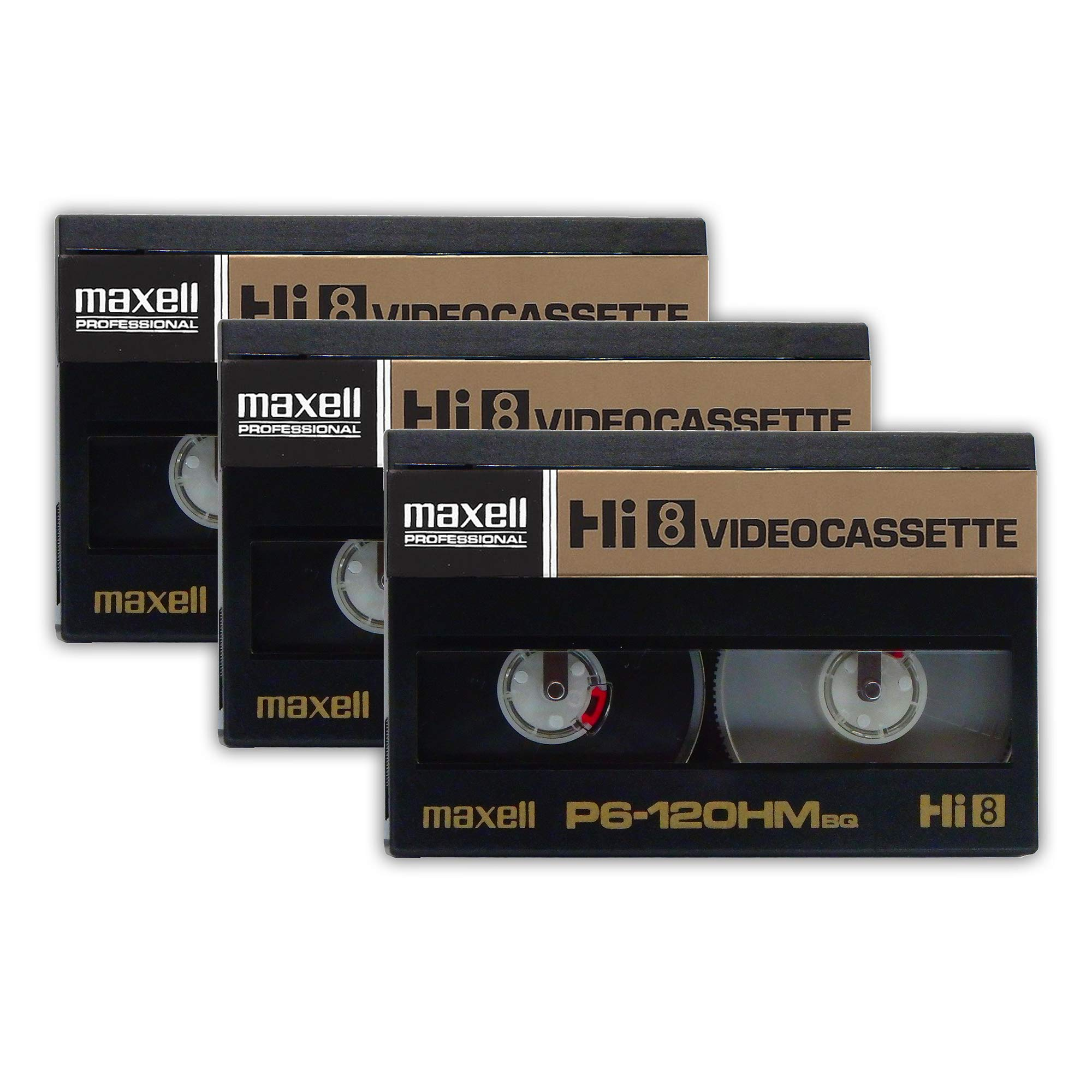 [3-Pack] Maxell P6-120HM Professional Broadcast Quality Hi8 8mm Video Cassette Tape by Generic