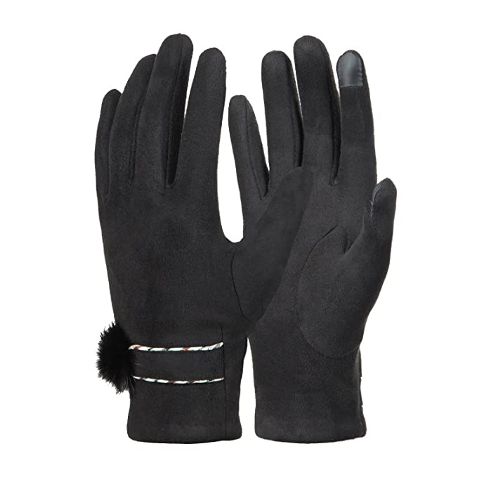 9ccbbf7d5 Winter Gloves For Women Warm Soft Fleece Lined Suede Gloves, Touchscreen  Texting by REDESS