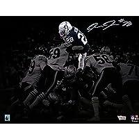 """$129 » Josh Jacobs Las Vegas Raiders Autographed 11"""" x 14"""" Touchdown Dive Photograph - Autographed…"""